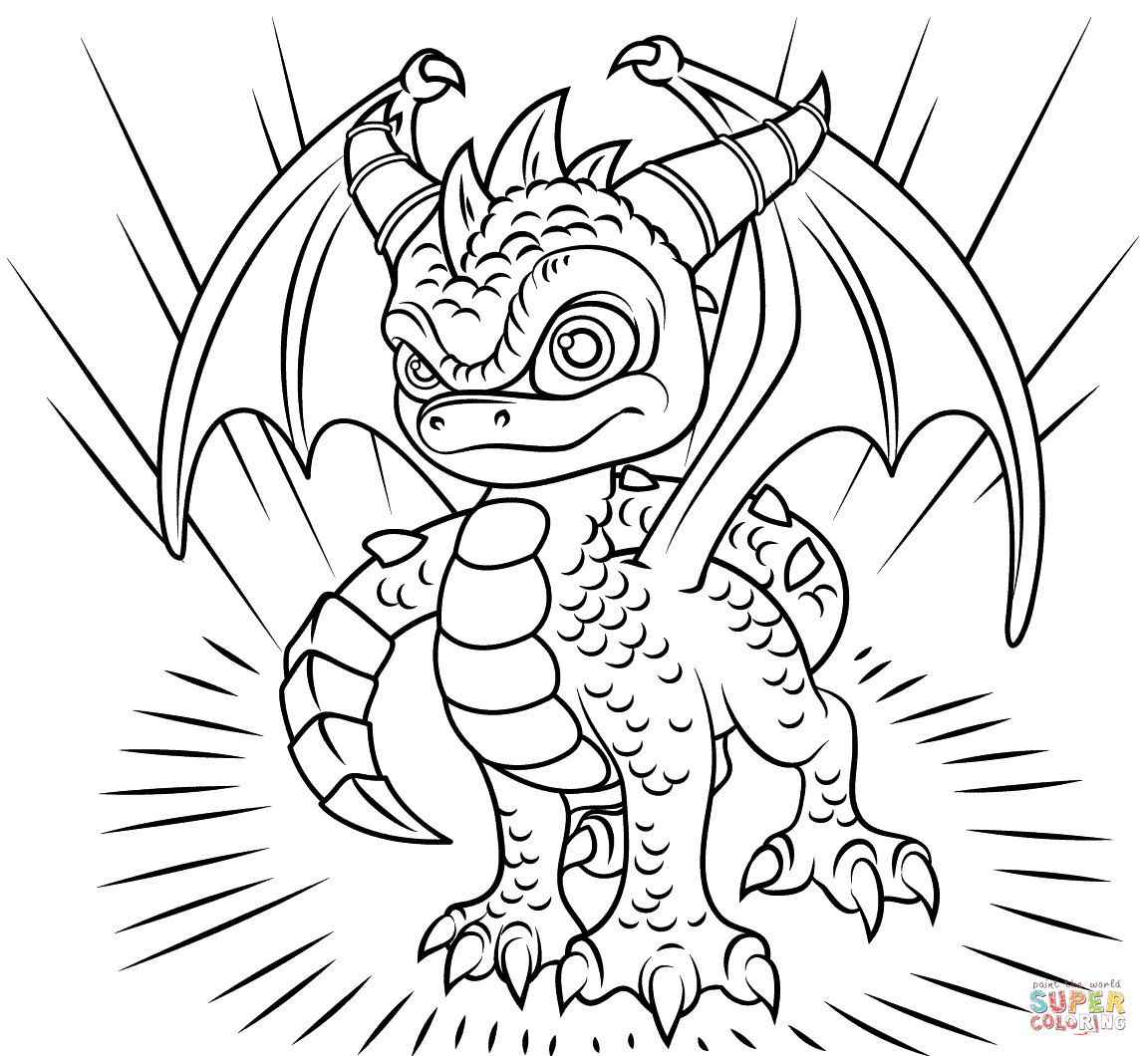 Printable Coloring Pages Skylanders Skylanders Spyro Coloring Page Free Printable Coloring Pages