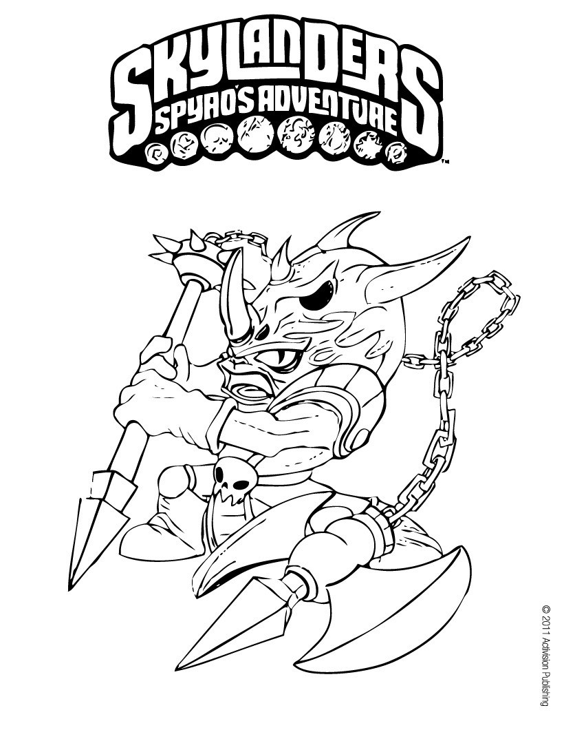Printable Coloring Pages Skylanders Skylanders Spyros Adventure Coloring Pages 52 Free Online