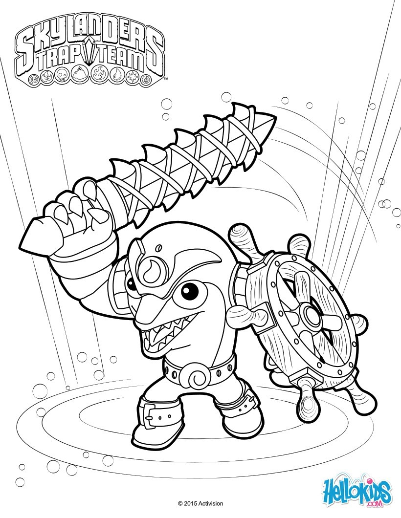 Printable Coloring Pages Skylanders Skylanders Trap Team Coloring Pages 52 Free Online Printables For Kids