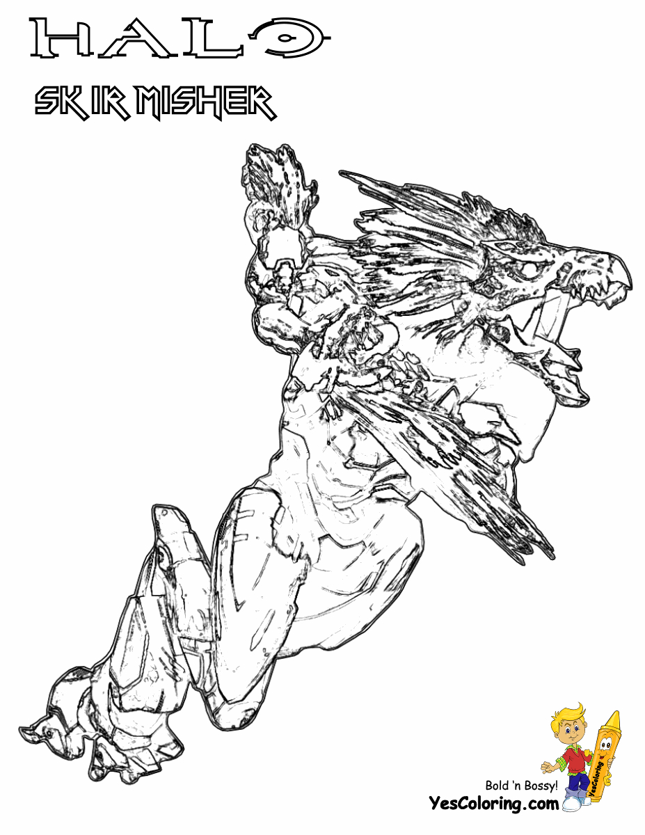 Printable Halo Coloring Pages Halo Color Pages Mitchellfloresco