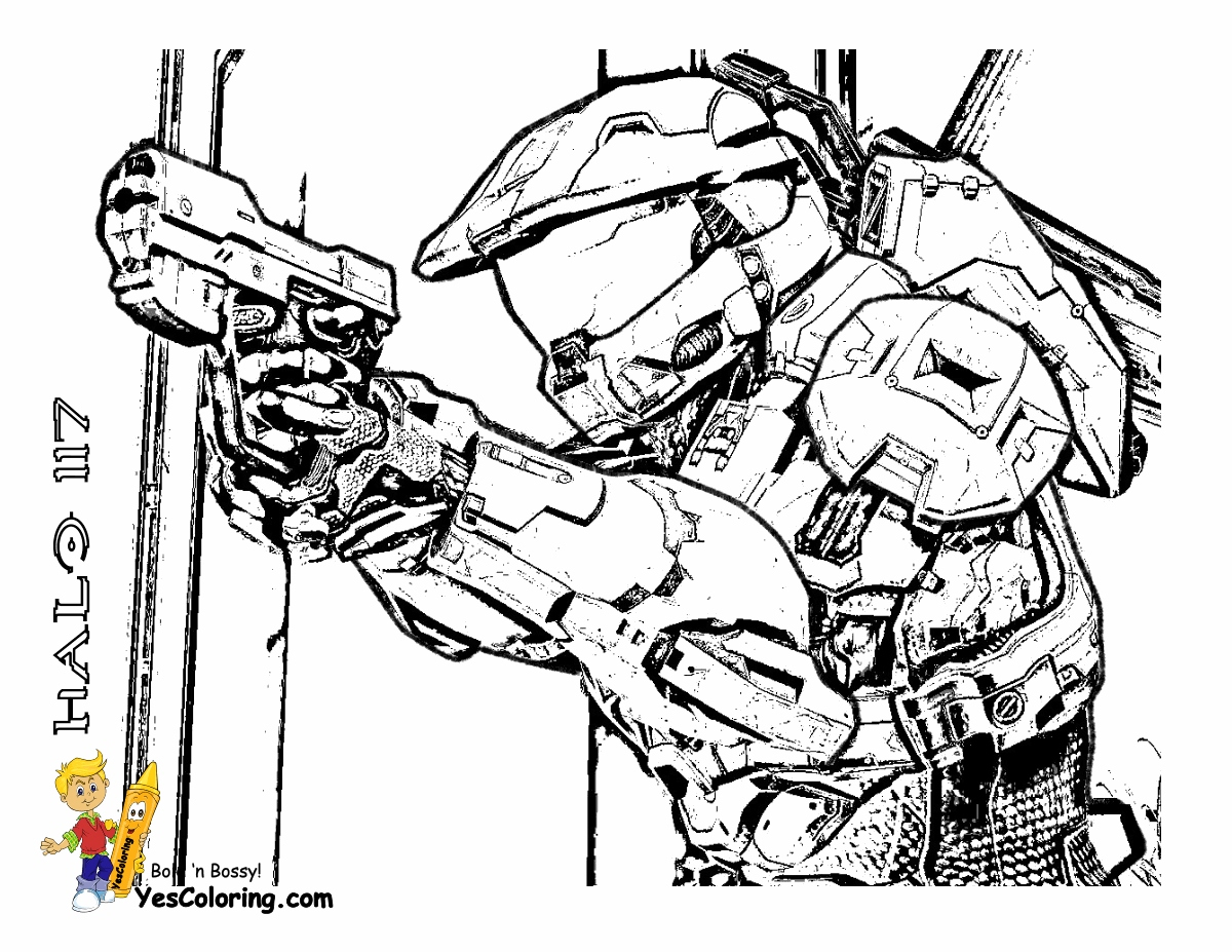 Printable Halo Coloring Pages Halo Coloring Pages At Getcolorings Free Printable Colorings