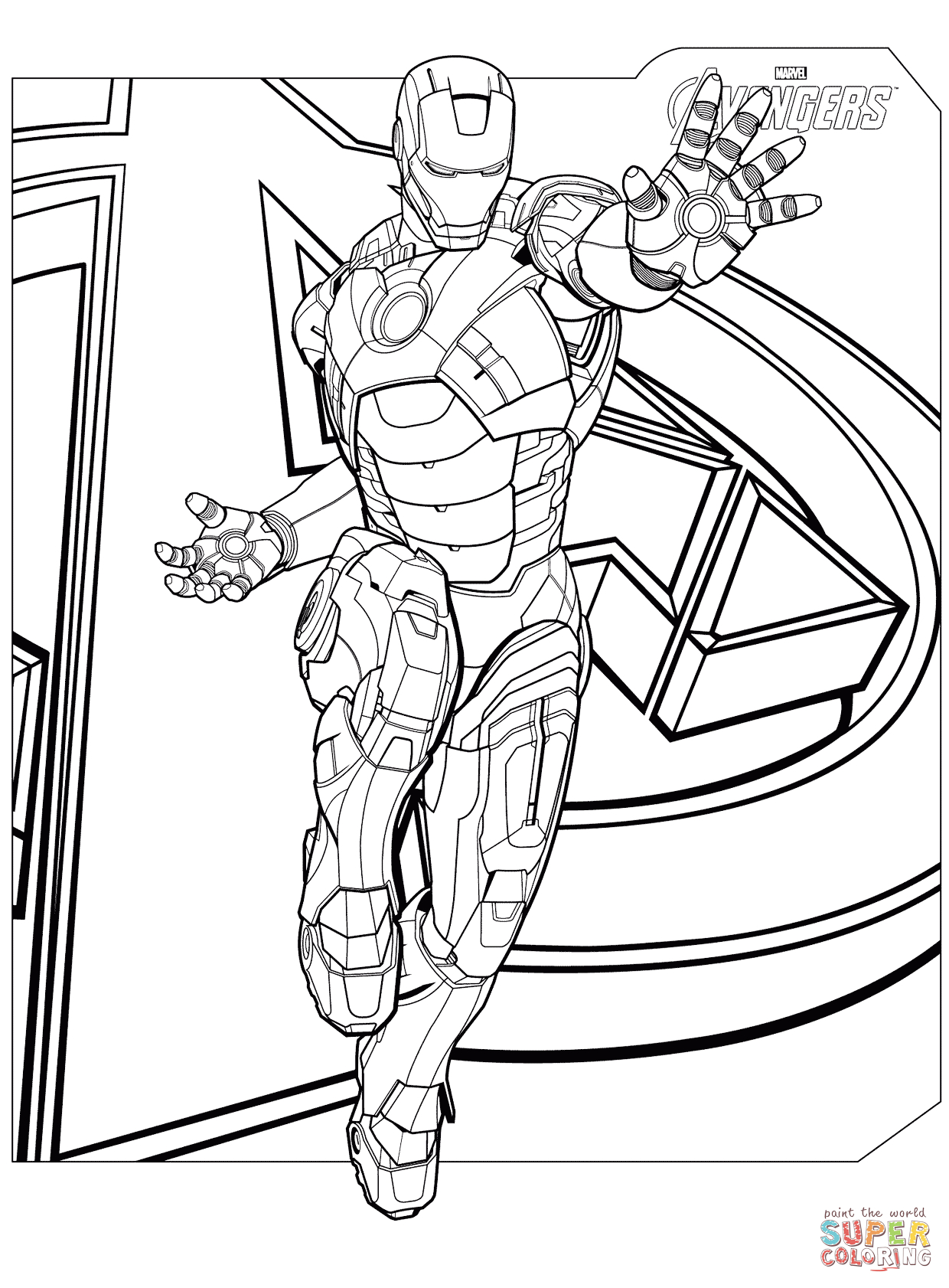 Printable Ironman Coloring Pages Avengers Iron Man Coloring Page Free Printable Coloring Pages