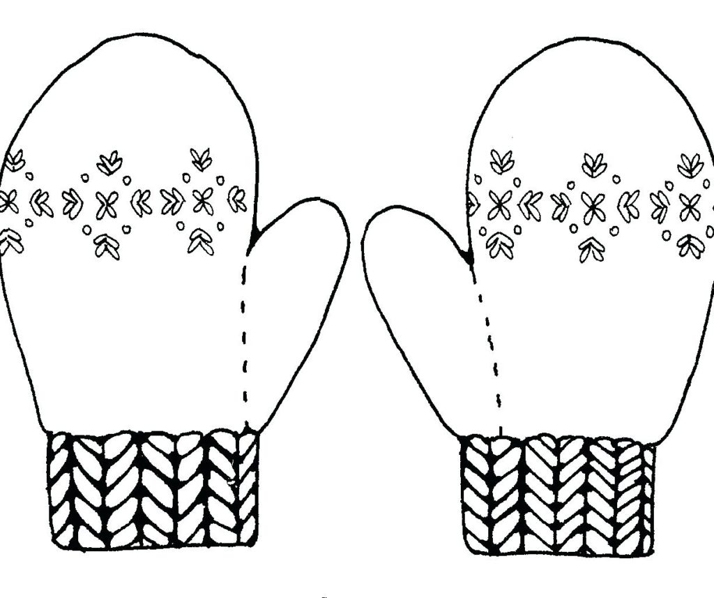 Printable Mitten Coloring Page Coloring Make Mitten Decoration Coloring Page Free Printable Pages