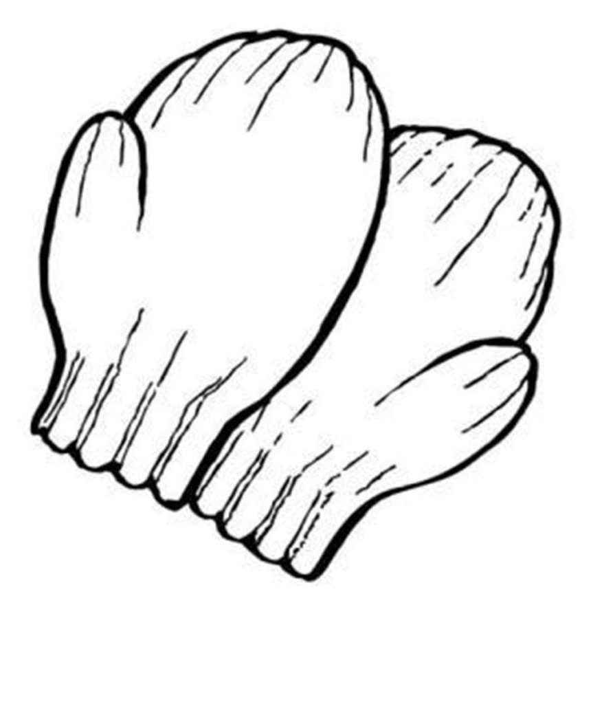 Printable Mitten Coloring Page Coloring Mittens Coloring Pages For Toddlers Free Printable Mitten
