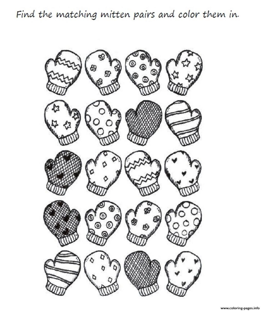 Printable Mitten Coloring Page Coloring Page Incredible Mitten Coloring Sheet Photo Inspirations