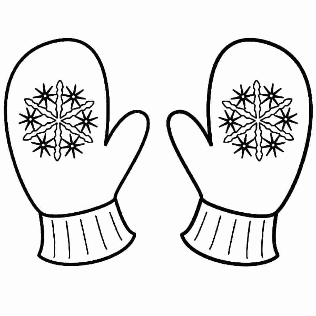Printable Mitten Coloring Page Coloring Page Unusual Ideas Design Printable Mitten Coloring Page