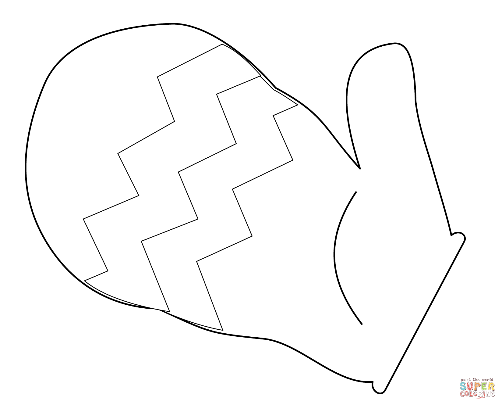 Printable Mitten Coloring Page Mitten Coloring Page Free Printable Coloring Pages