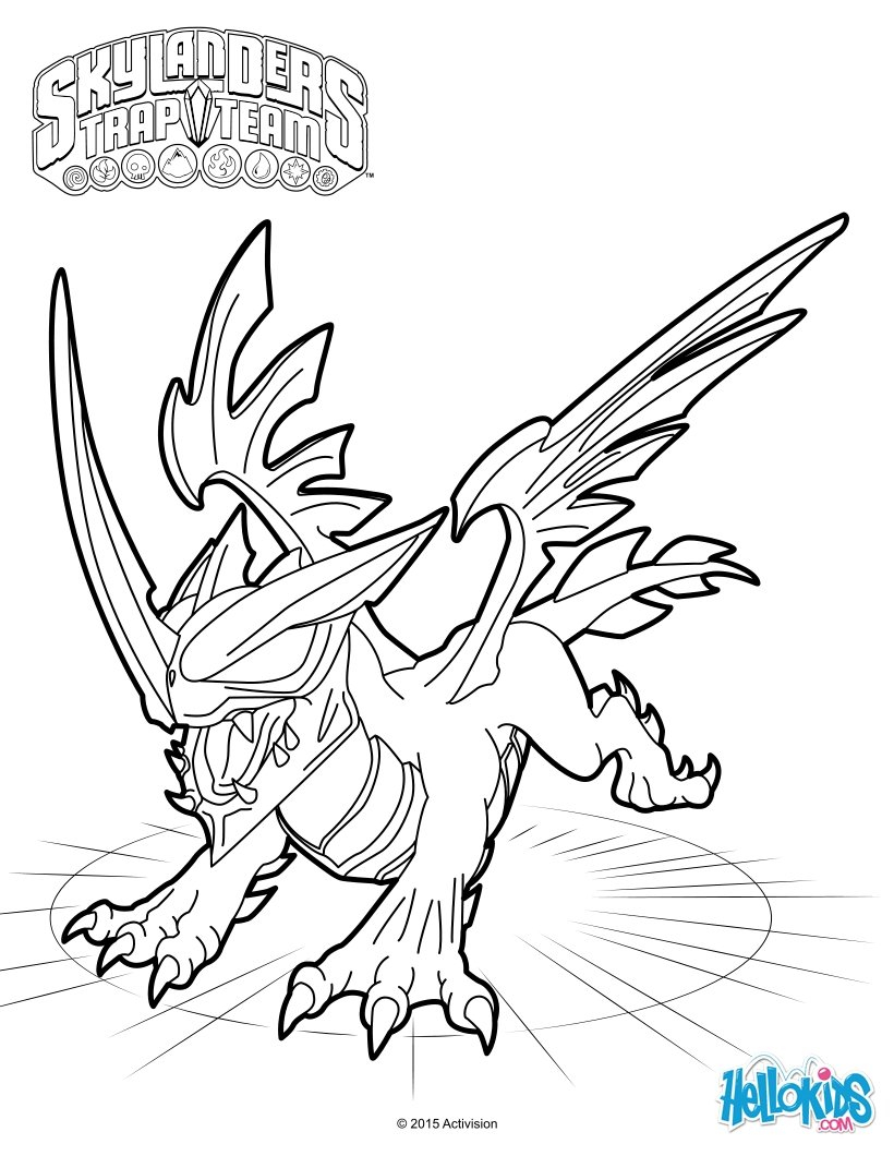 Printable Skylanders Coloring Pages Blackout Coloring Pages Hellokids