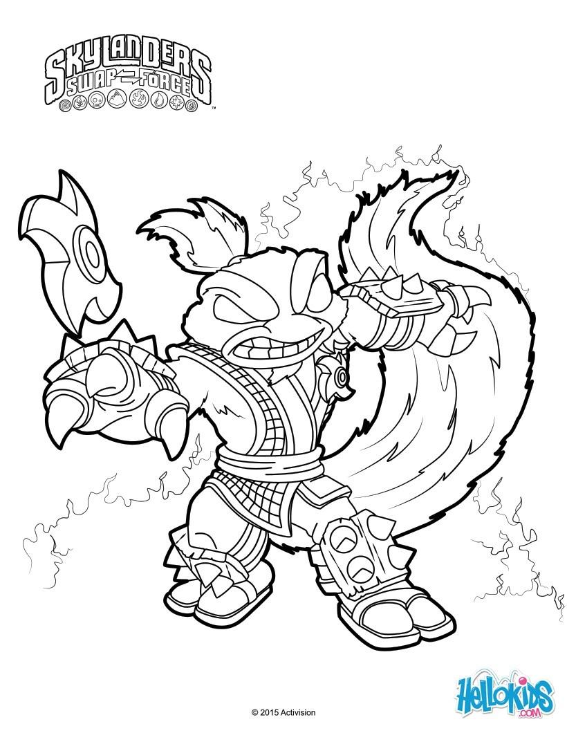 Printable Skylanders Coloring Pages Skylanders Trap Team Coloring Pages 52 Free Online Printables For Kids