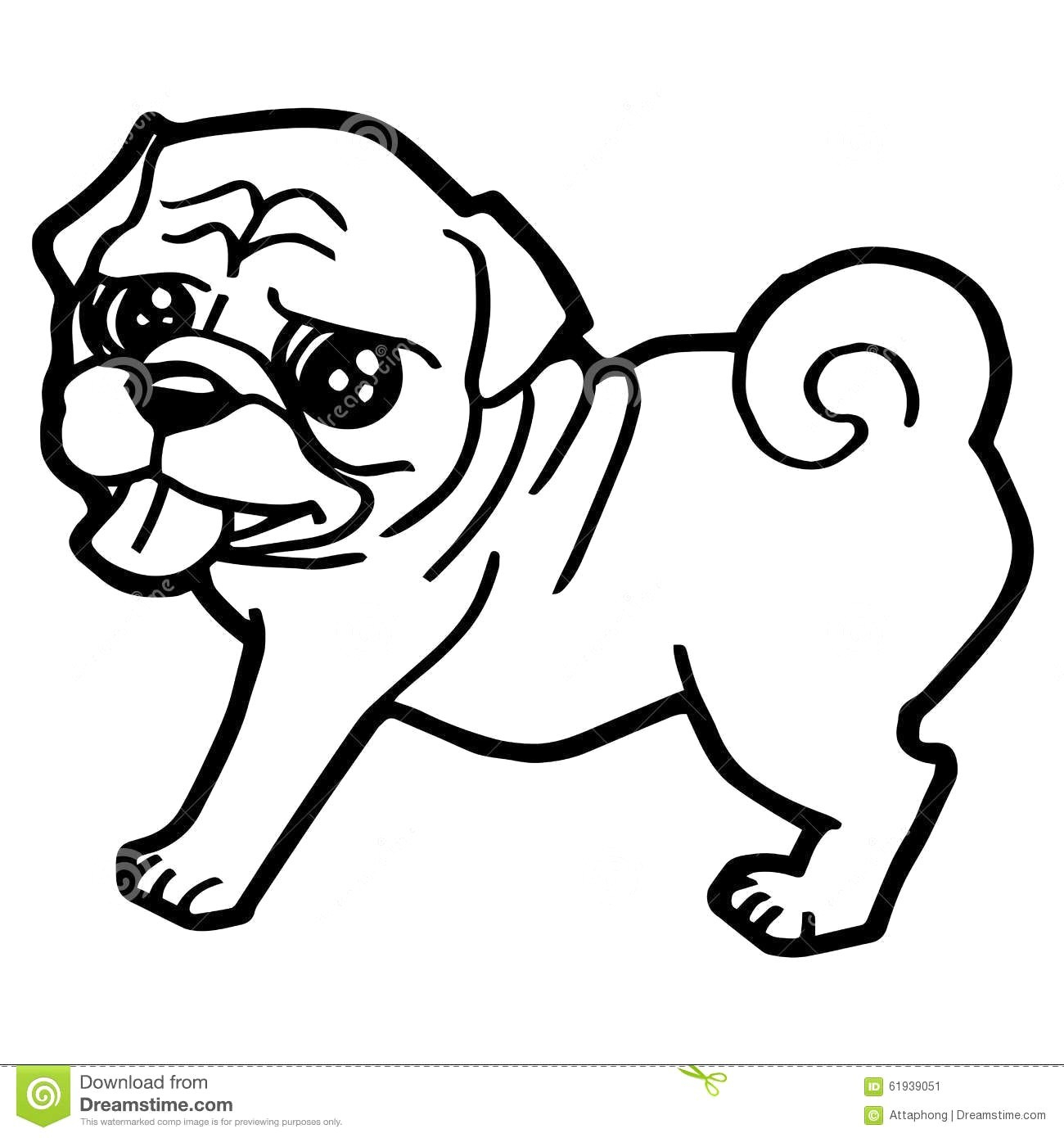 Pug Puppy Coloring Pages Cute Pug Coloring Pages Printable Coloring Page For Kids