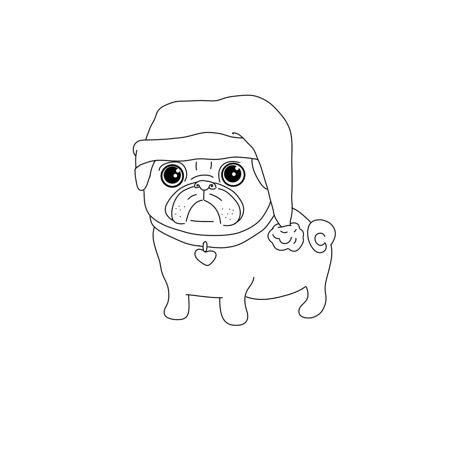 Pug Puppy Coloring Pages Pug Coloring Pages Best Coloring Pages For Kids