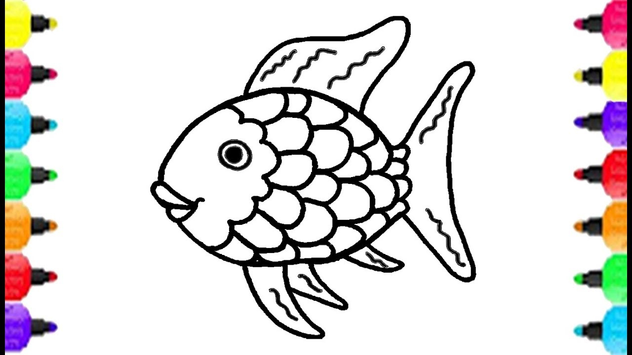 Rainbow Fish Coloring Pages Preschoolers Coloring Ideas Fish Coloring Pages For Kids Maxresdefault How To