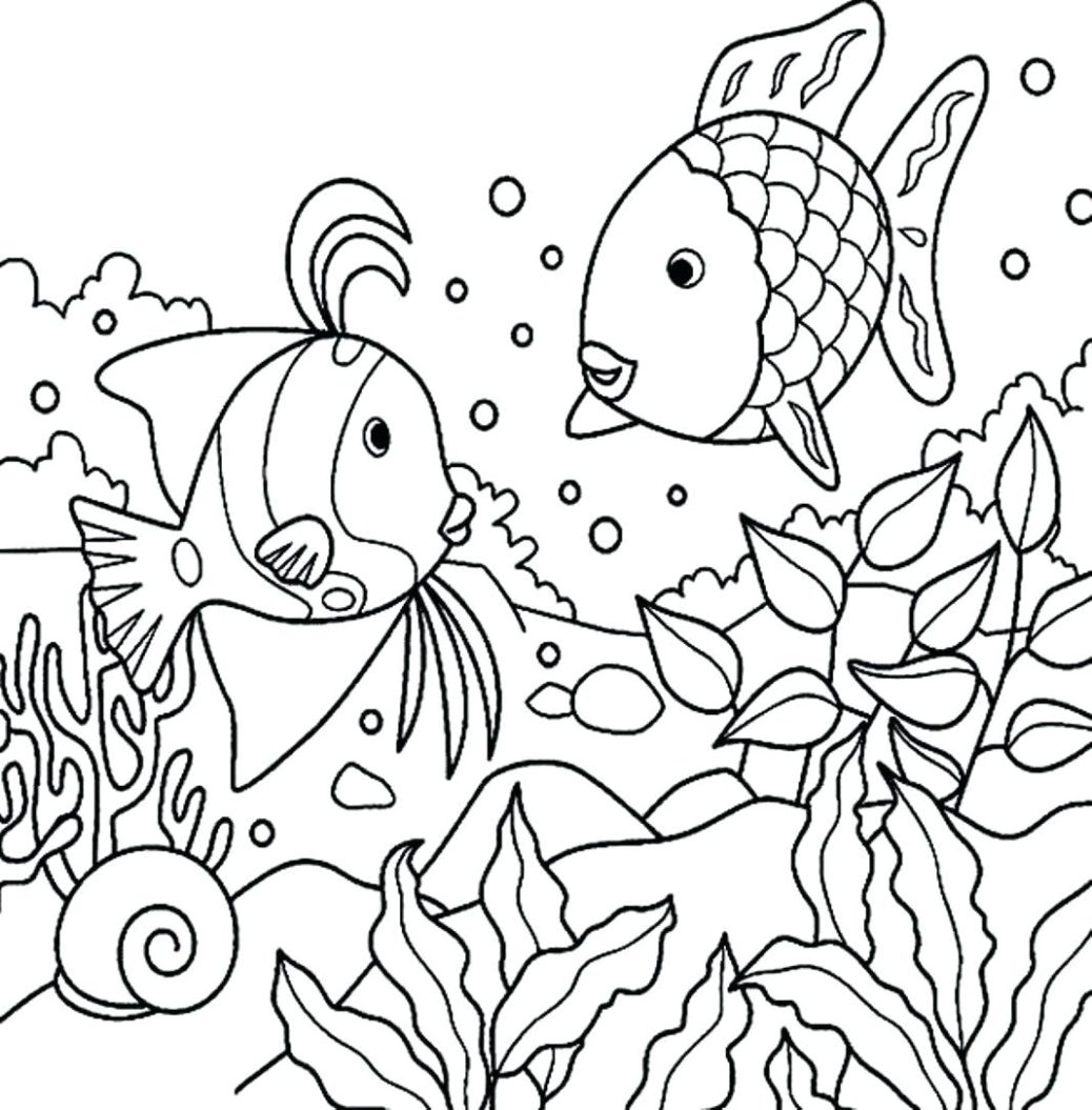 Rainbow Fish Coloring Pages Preschoolers Coloring Pages Extraordinary Coloring Pages For Kindergarten