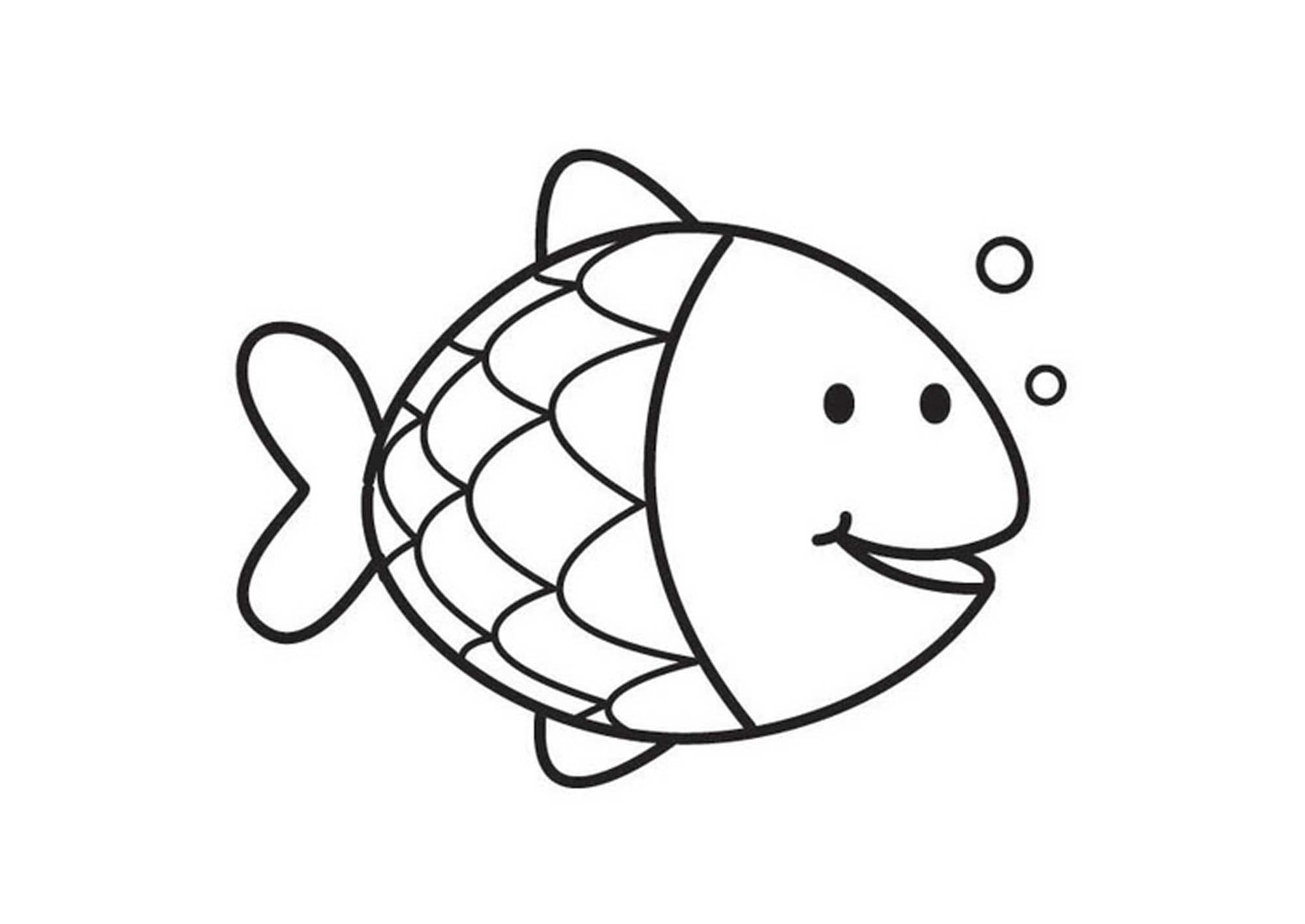 Rainbow Fish Coloring Pages Preschoolers Fish Coloring Pages Preschool
