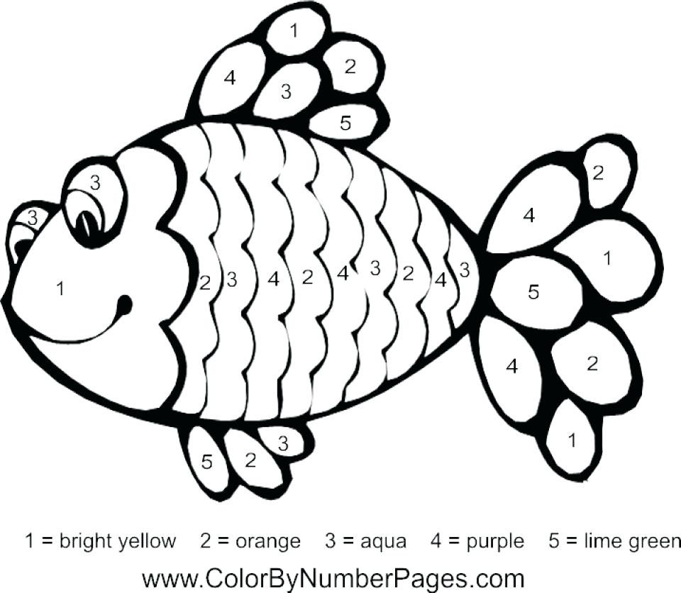Rainbow Fish Coloring Pages Preschoolers Fish Coloring Worksheet Amicuscolorco
