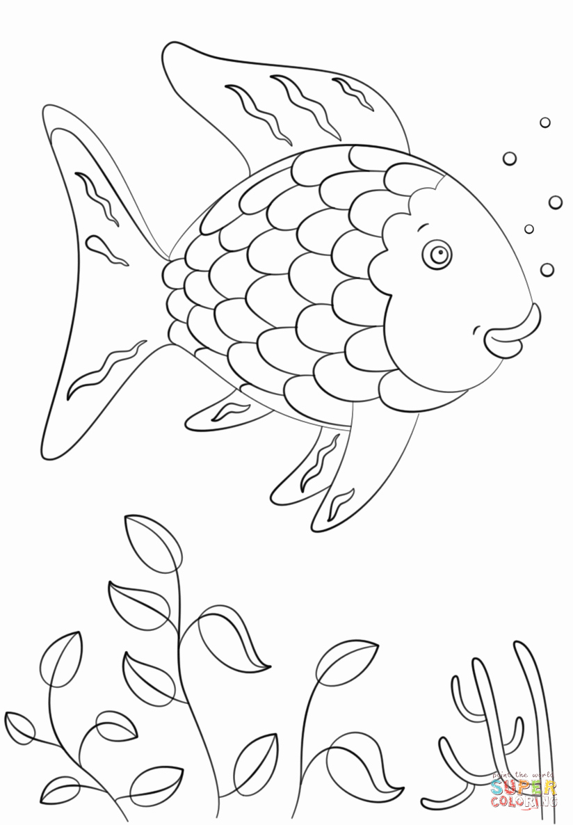 Rainbow Fish Coloring Pages Preschoolers Printable Fish Colouring Pages Lovely Free Printable Fish Coloring