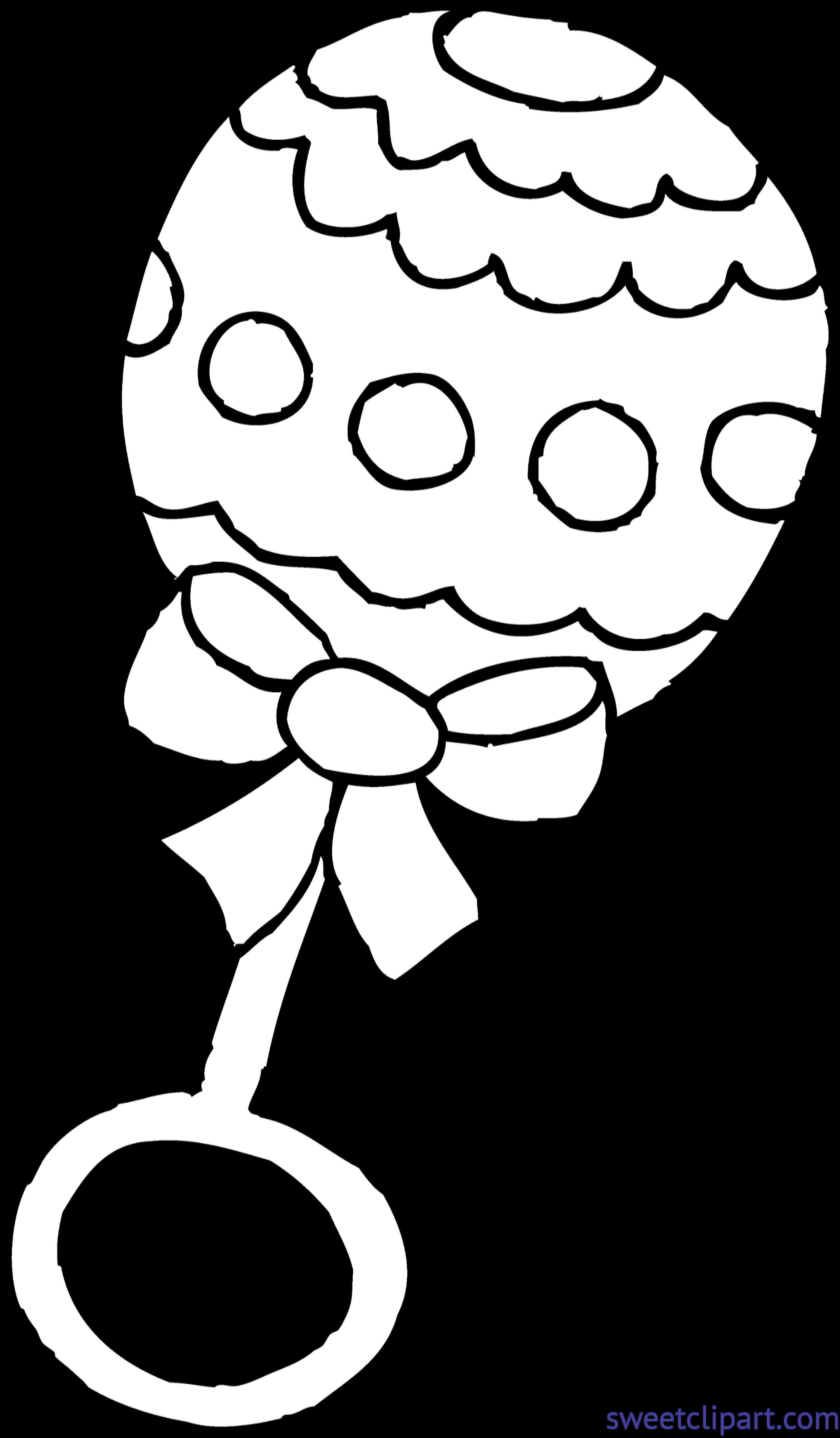 Rattle Coloring Page Ba Rattle Coloring Page Clip Art Sweet Clip Art