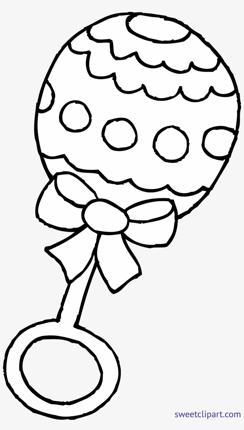 Rattle Coloring Page Ba Rattle Coloring Page Clip Art Sweet Unique Rattles Black And