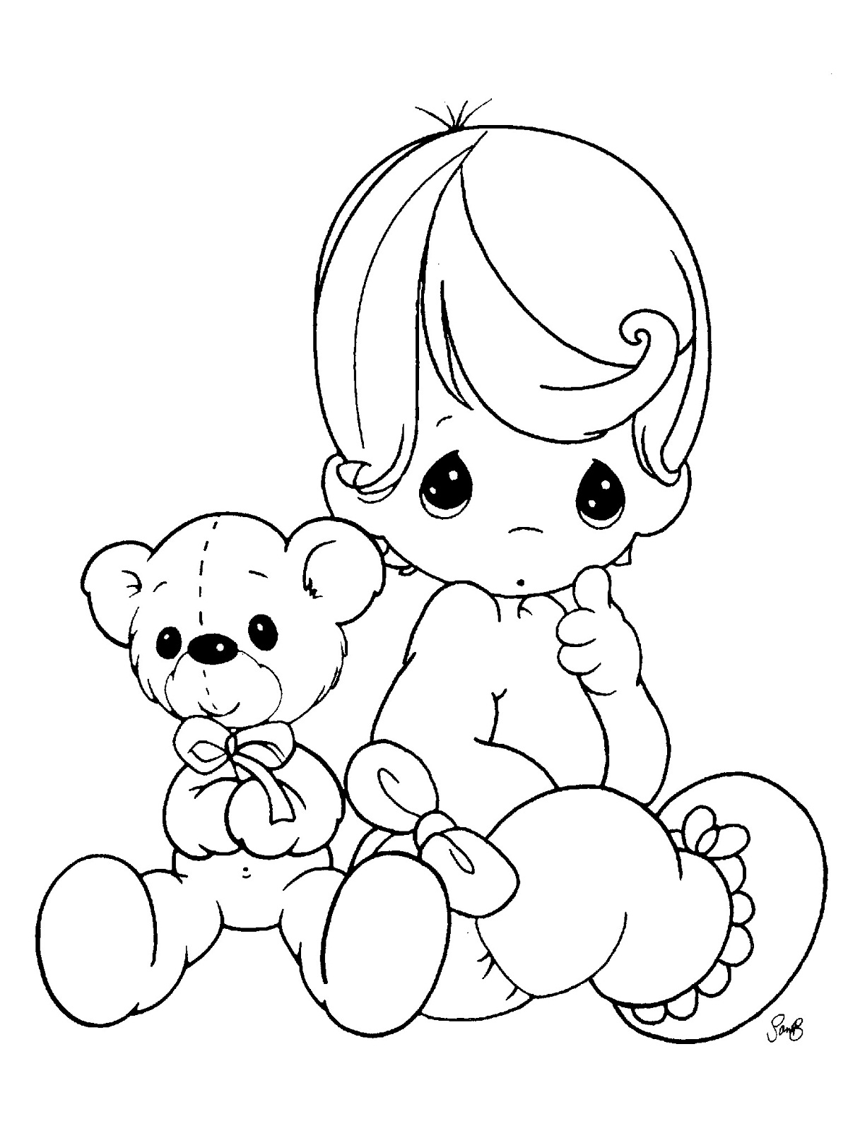 Rattle Coloring Page Free Printable Ba Coloring Pages For Kids