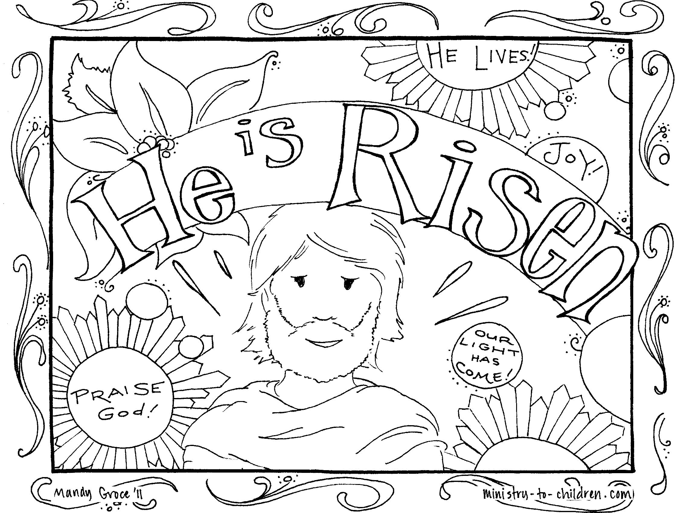 Religious Coloring Pages For Kids Easter Coloring Pages Religious Colouring To Sweet Print Best Free