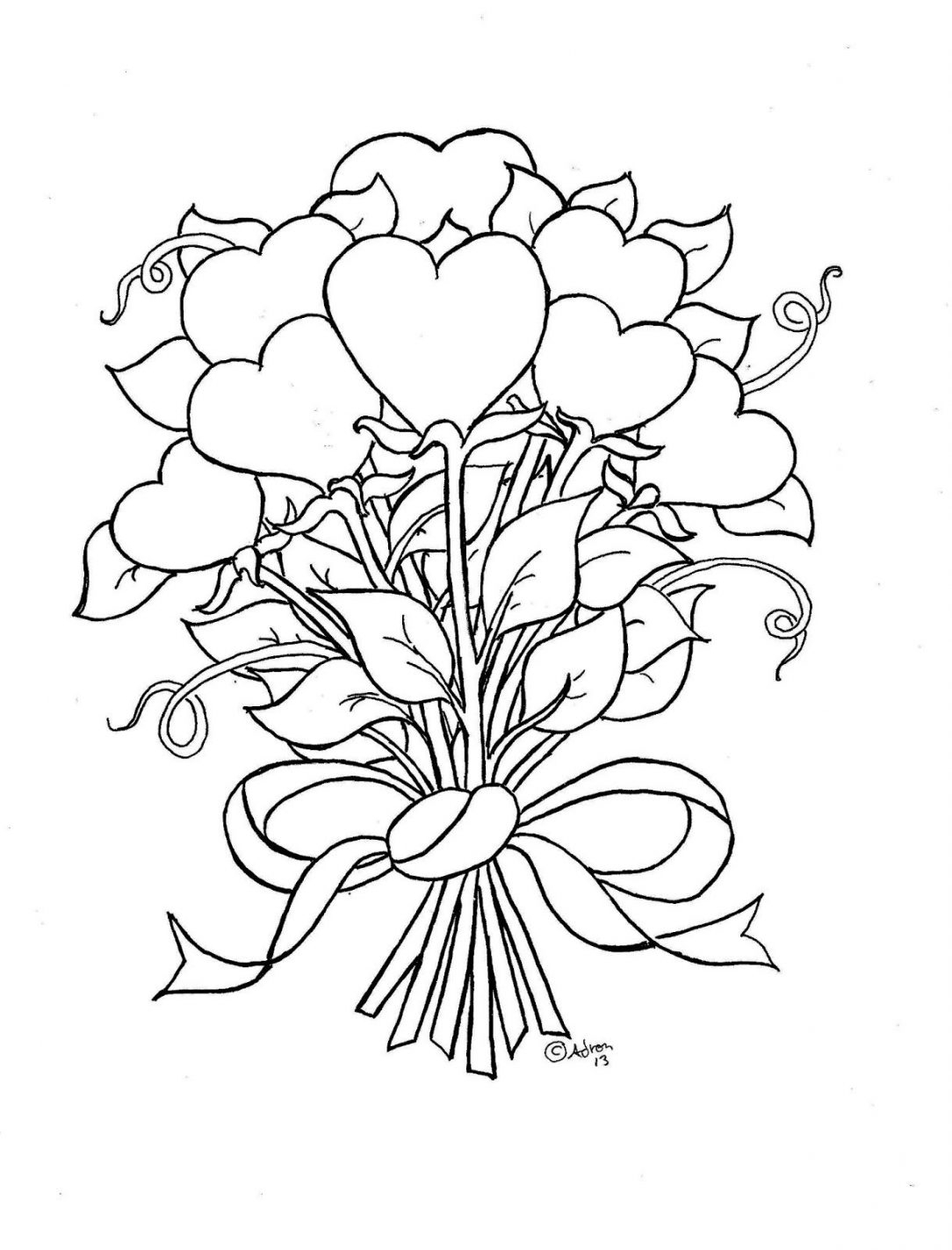 Roses And Hearts Coloring Pages Coloring Book World Coloring Book World 4cb46e6di Pages Of Roses