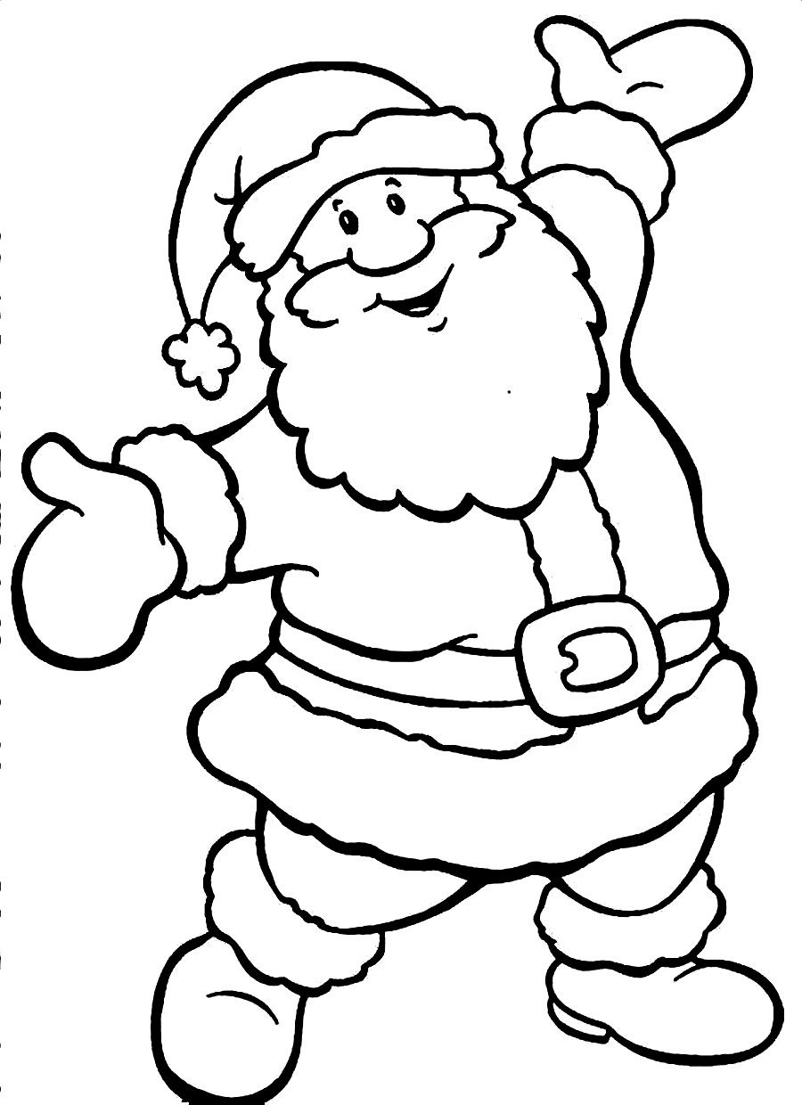 Santa And Rudolph Coloring Pages 45 Coloring Page Of Santa Kids Under 7 Santa Claus Coloring Pages