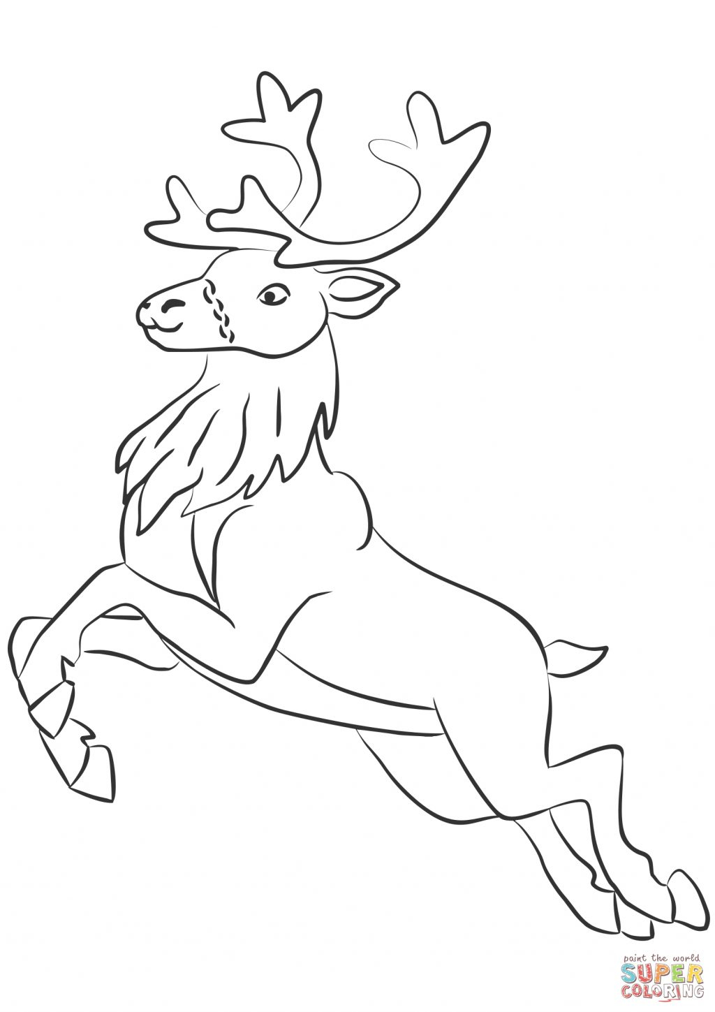Santa And Rudolph Coloring Pages Coloring Book 48 Reindeer Coloring Pages Image Ideas Cute