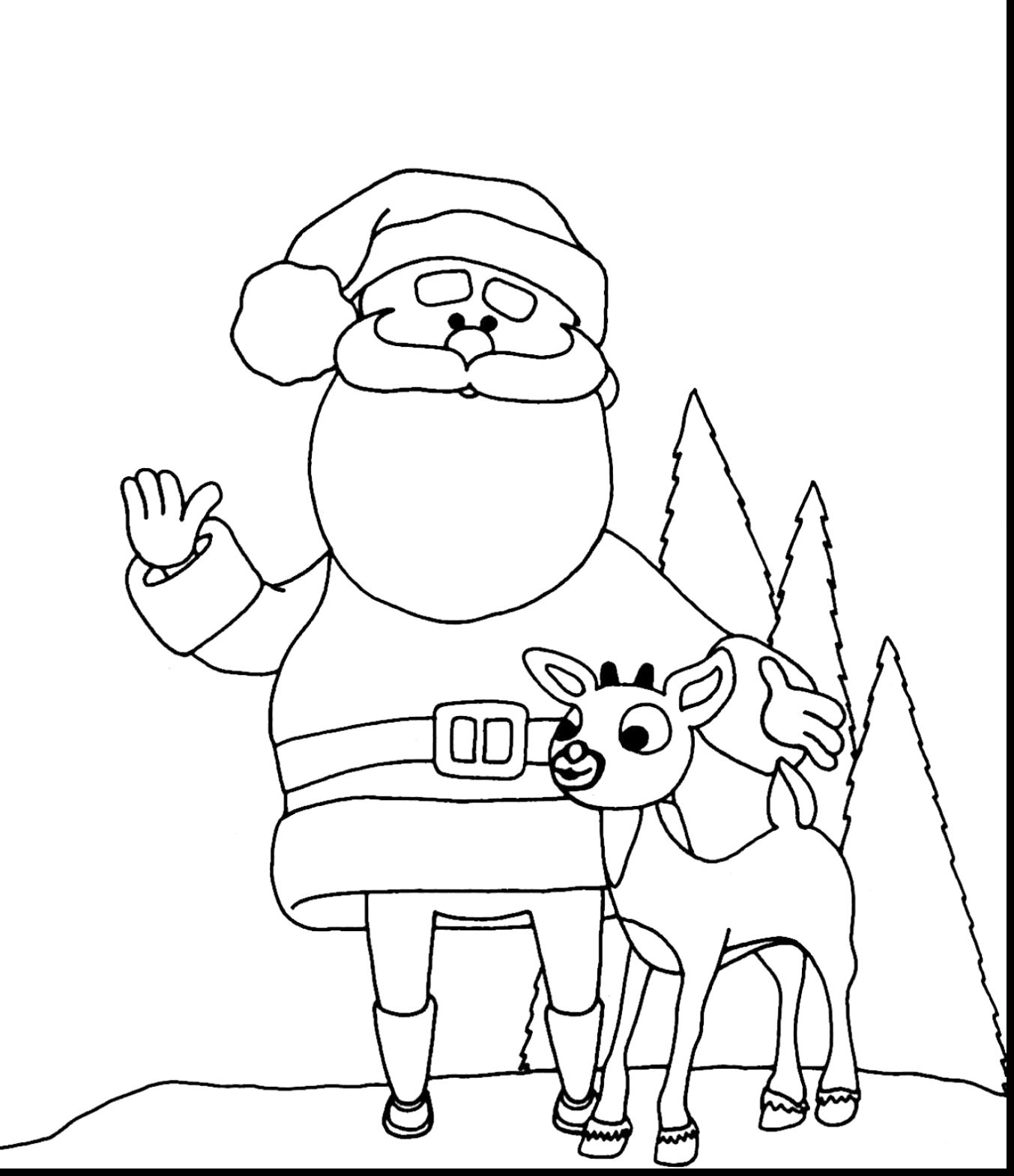 Santa And Rudolph Coloring Pages Coloring Pages Astonishing Rudolph The Red Nosed Reindeer Coloring