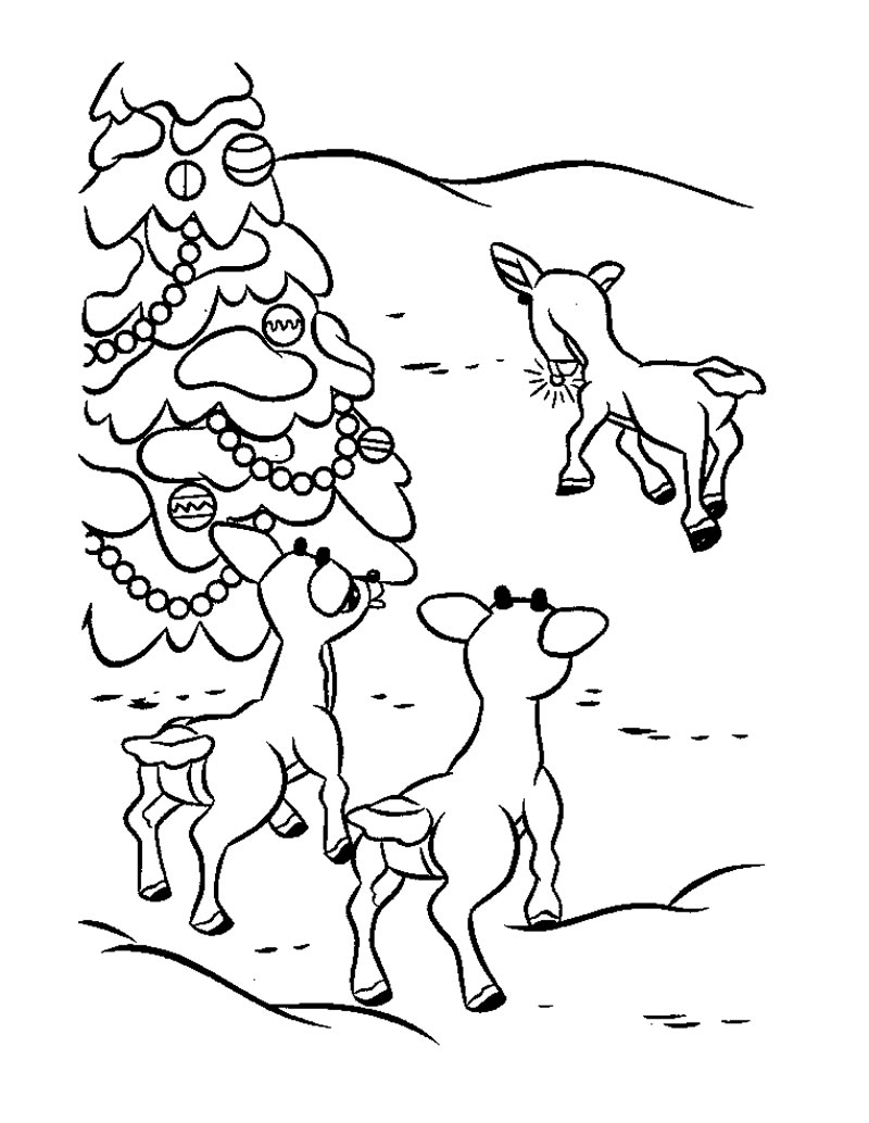 Santa And Rudolph Coloring Pages Rudolf Coloring Pages Index Coloring Pages Santa Rudolph Coloring