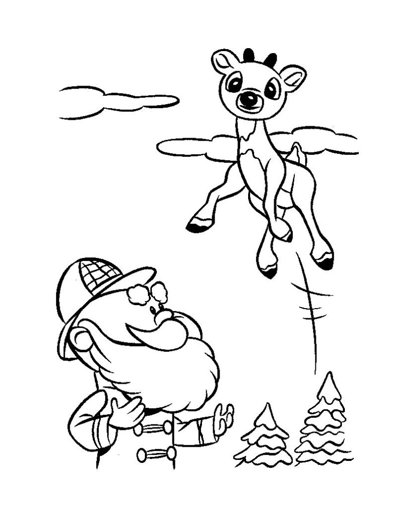 Santa And Rudolph Coloring Pages Rudolph Coloring Pages Coloringrocks