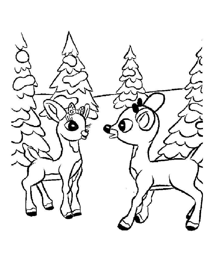 Santa And Rudolph Coloring Pages Rudolph The Red Nosed Reindeer Games And Coloring Book Pages