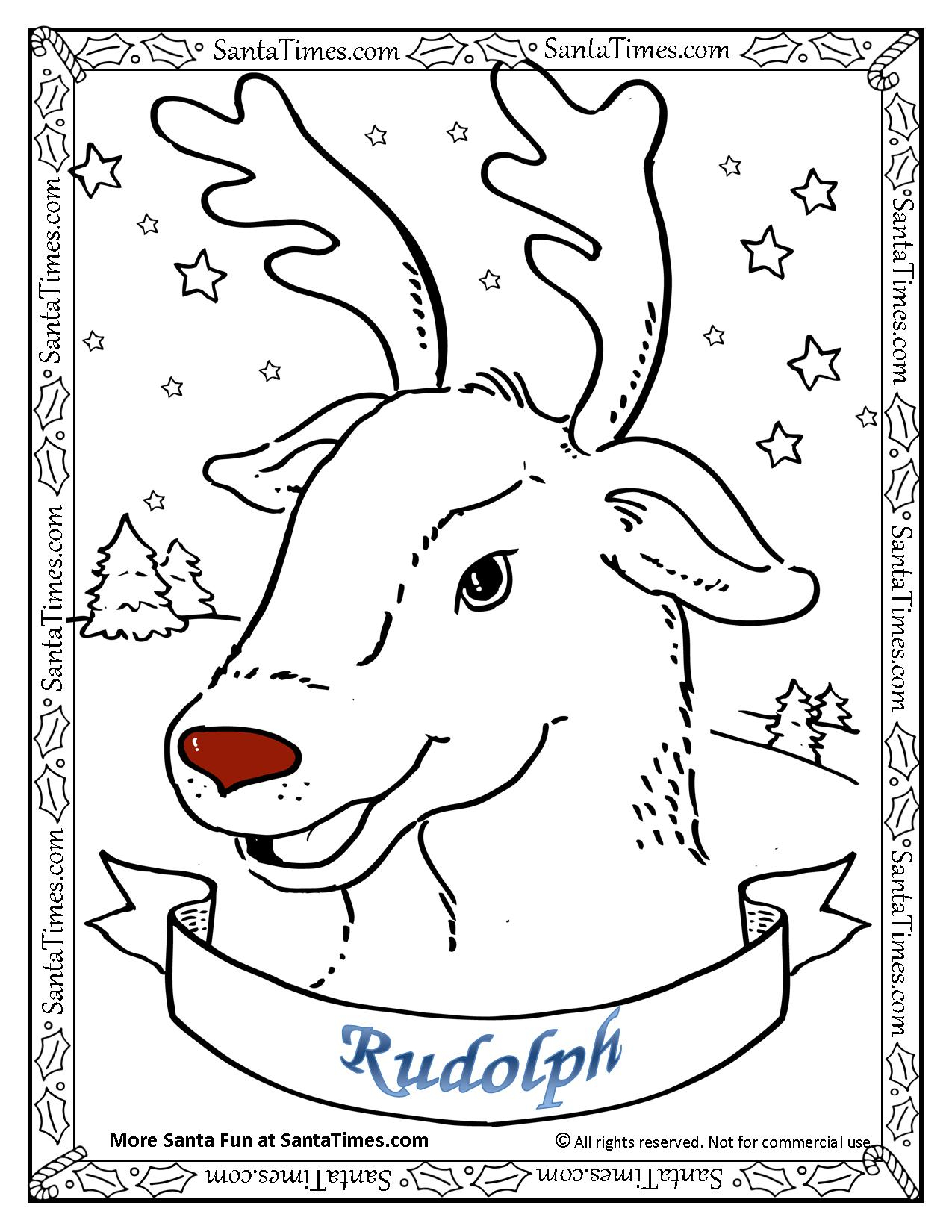 Santa And Rudolph Coloring Pages Rudolph The Red Nosed Reindeer