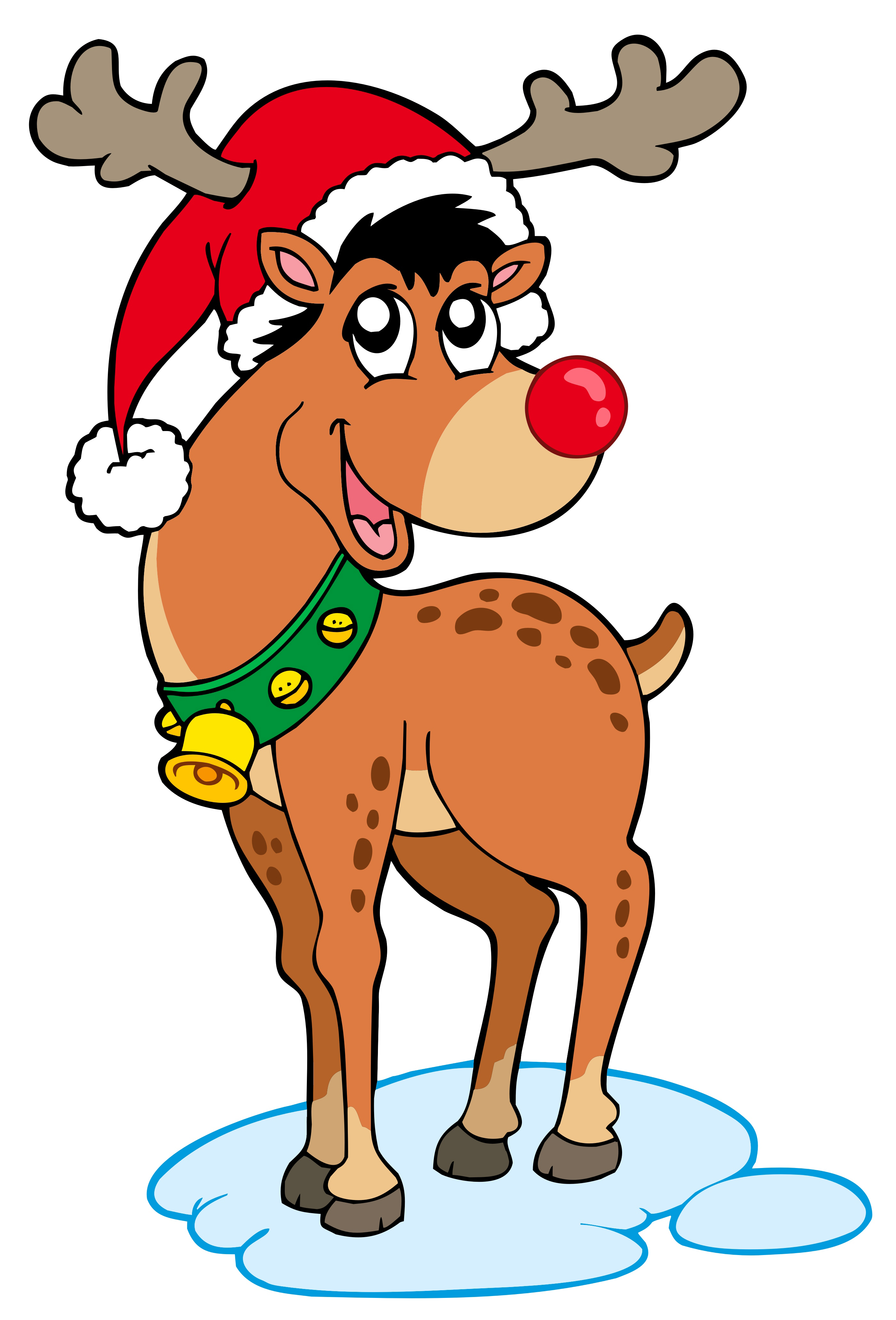 Santa And Rudolph Coloring Pages Santa And Rudolph Reindeer Giving Toys Christmas Coloring Page With