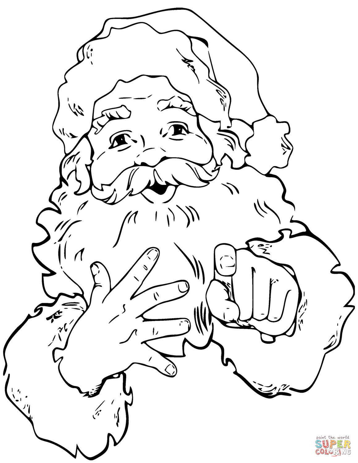 Santa And Rudolph Coloring Pages Santa Claus Coloring Pages Free Coloring Pages