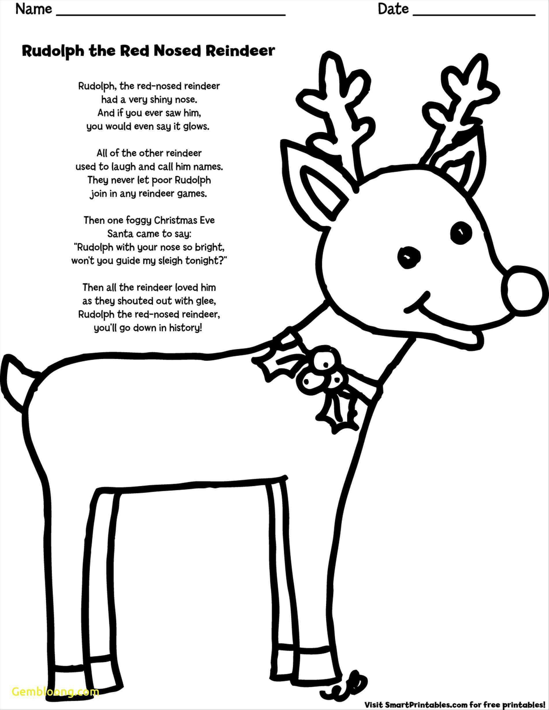 Santa And Rudolph Coloring Pages Santa Rudolph Coloring Pages New Rudolph The Red Nosed Reindeer