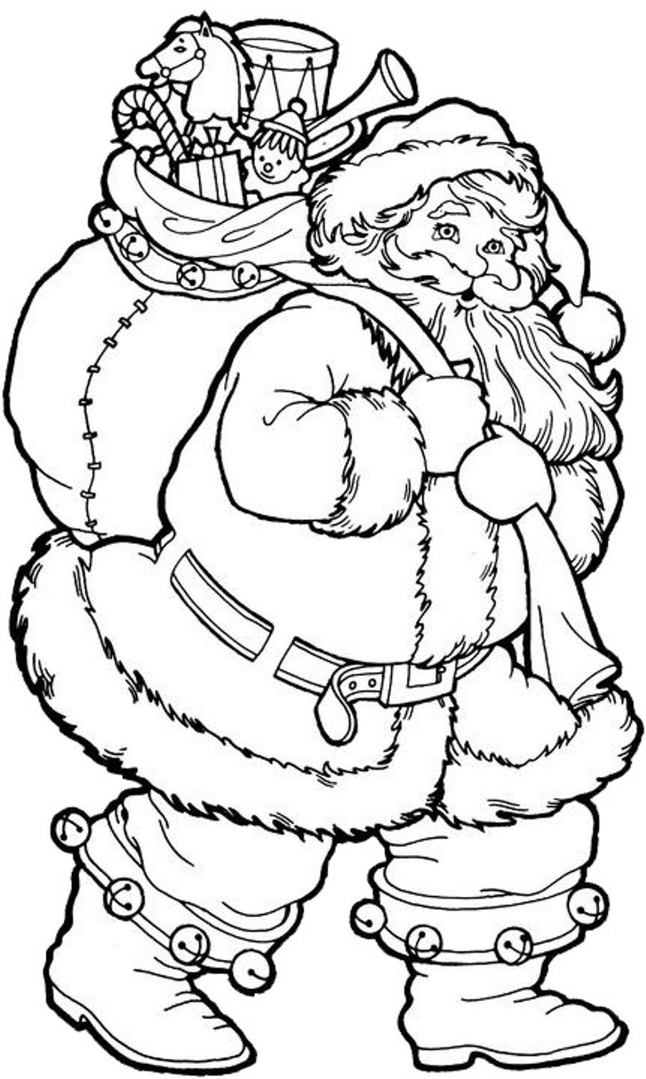 Santa Claus In Sleigh Coloring Page Santa Coloring Pages Coloringrocks