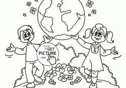 Save The Earth Coloring Pages Coloring Ideas Free Printable Earth Day Coloring Page Kids Pages