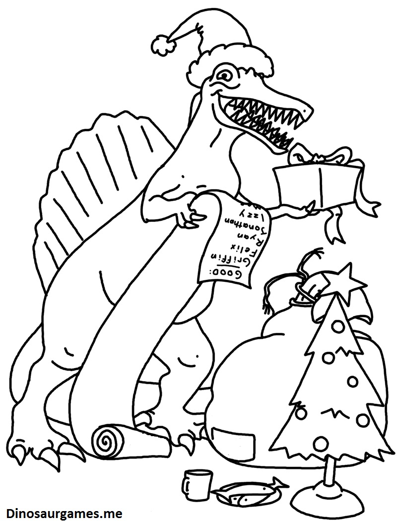 Scary Dinosaur Coloring Pages Christmas Dinosaur Coloring Page Dinosaur Coloring Pages