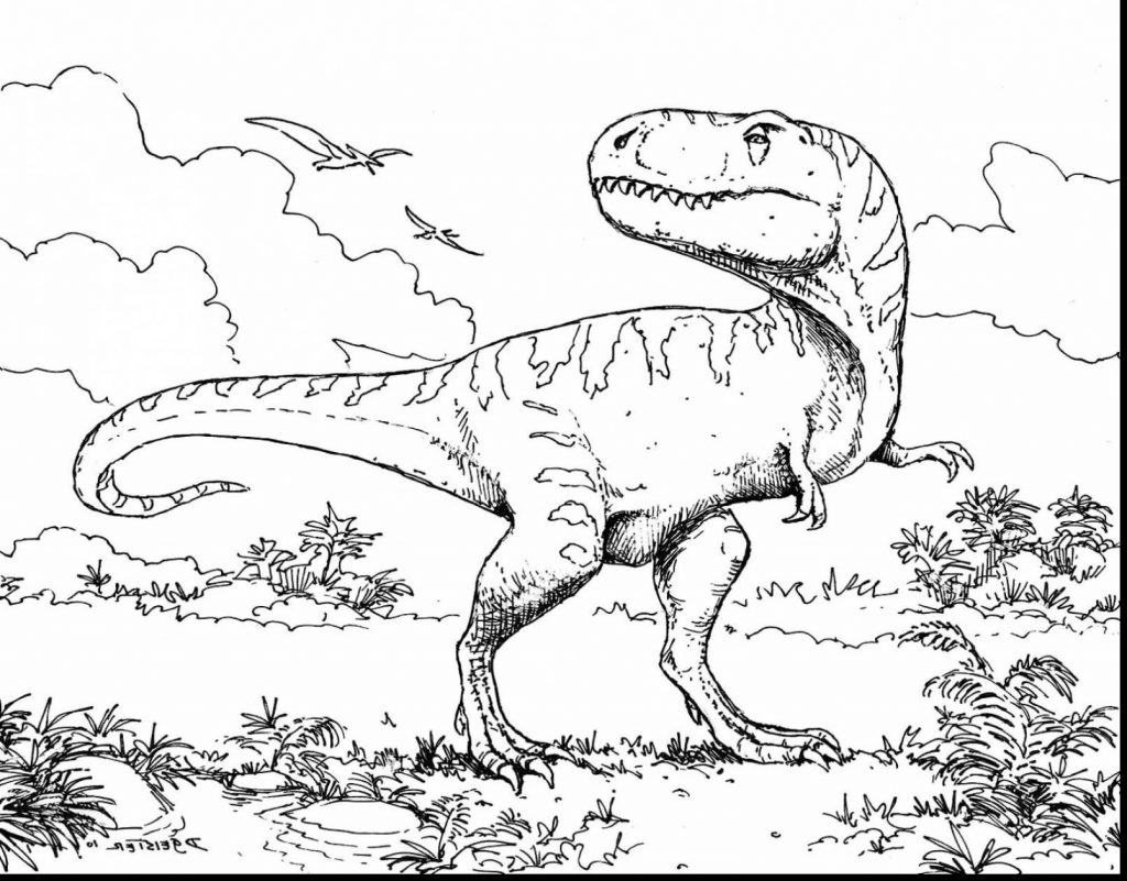 Scary Dinosaur Coloring Pages Coloring Pages Coloring Pages Free T Rex Dinosaur Tont For Adults