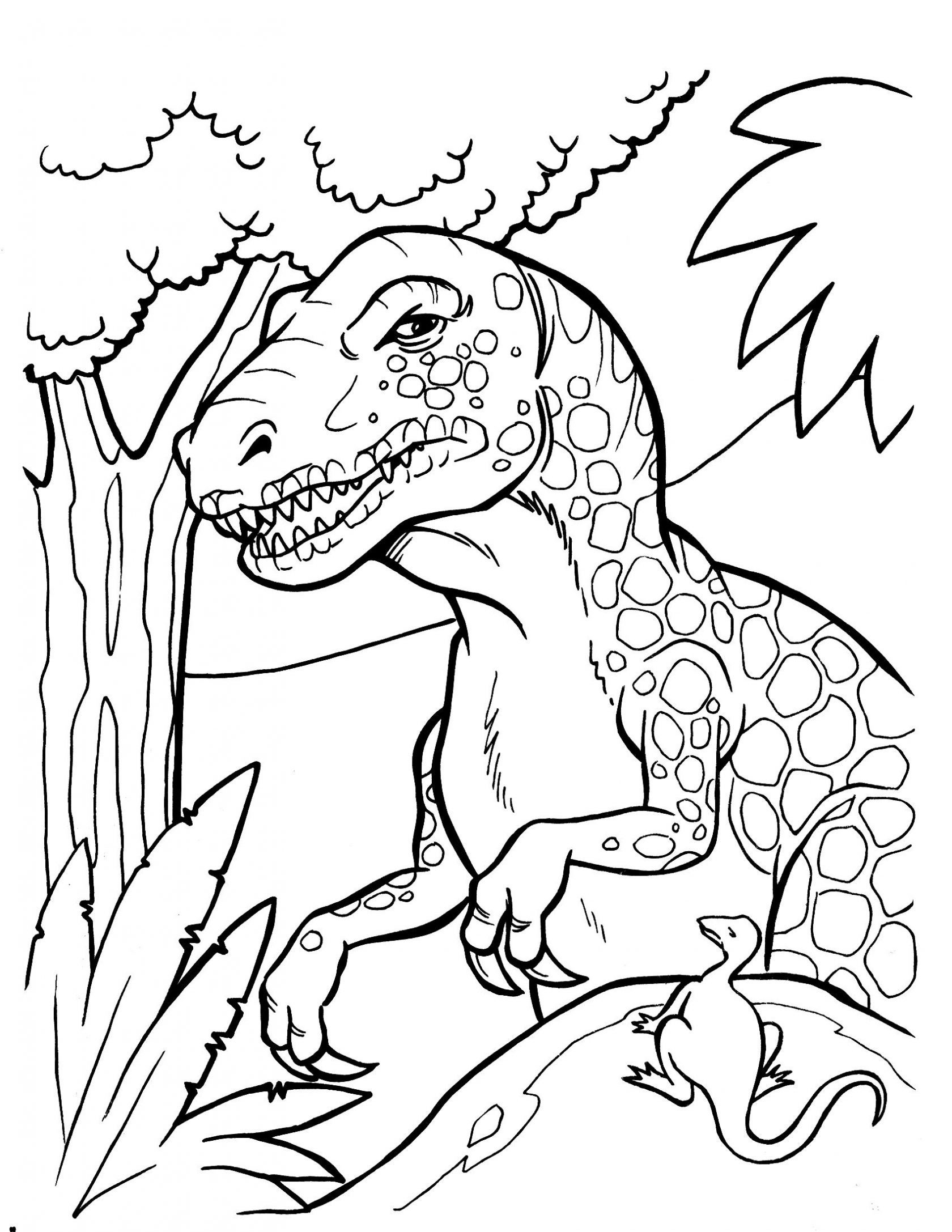 Scary Dinosaur Coloring Pages Dinosaur Coloring Page Scary Pages Tingameday