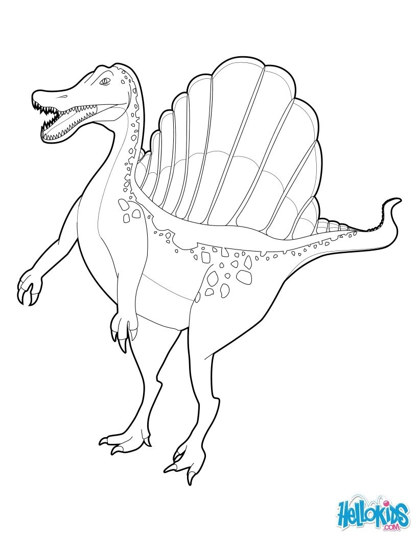 Scary Dinosaur Coloring Pages Scary Dinosaur Coloring Pages Inspirational Spinosaurus Coloring
