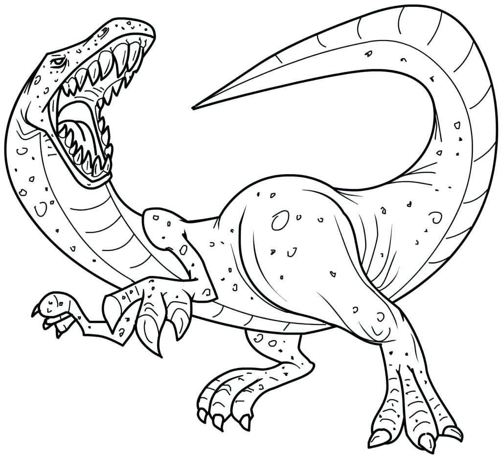 Scary Dinosaur Coloring Pages Utahraptor Coloring Page Micronsheetco