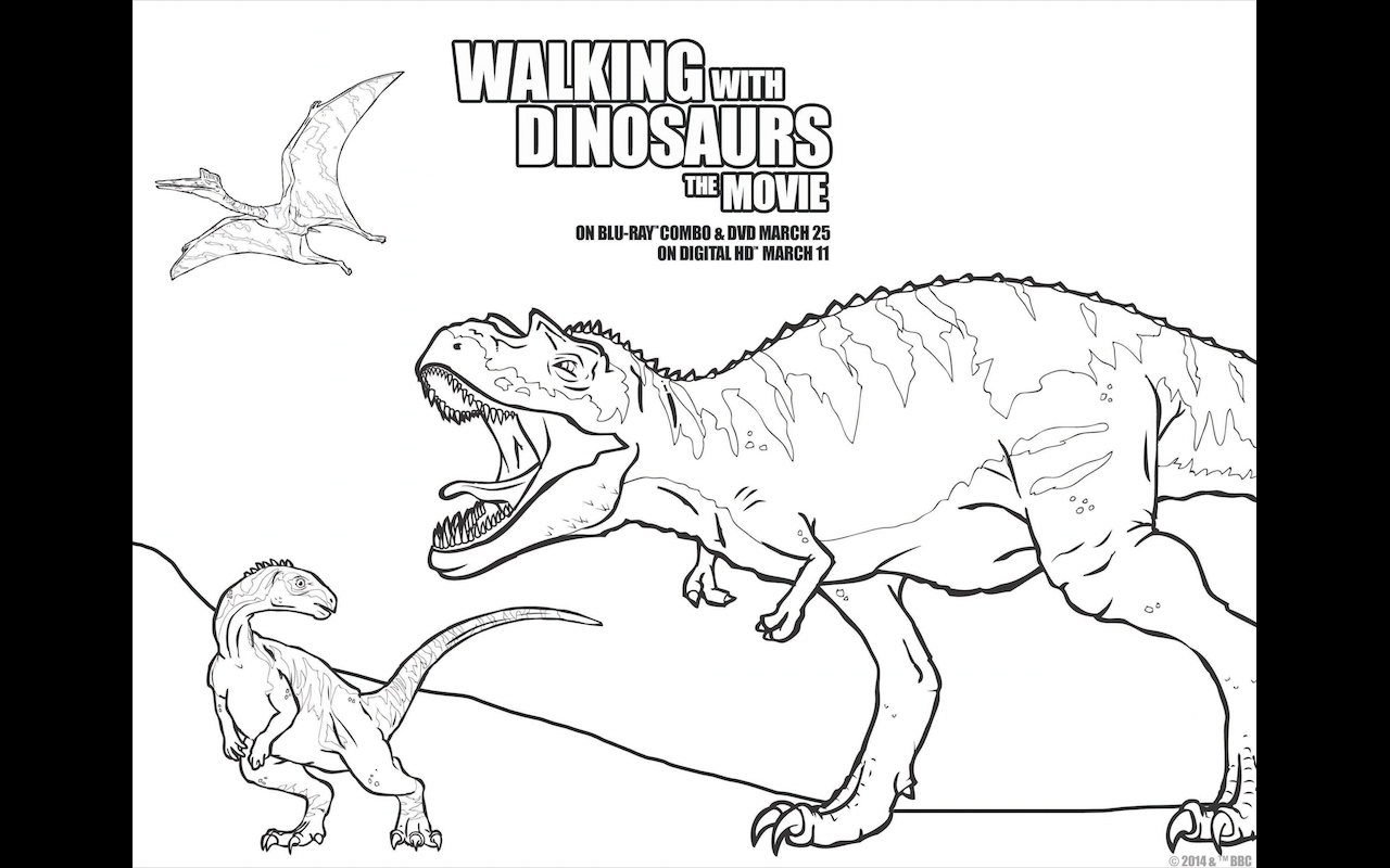Scary Dinosaur Coloring Pages Walking With Dinosaurs Free Printable Coloring Pages And Dvd