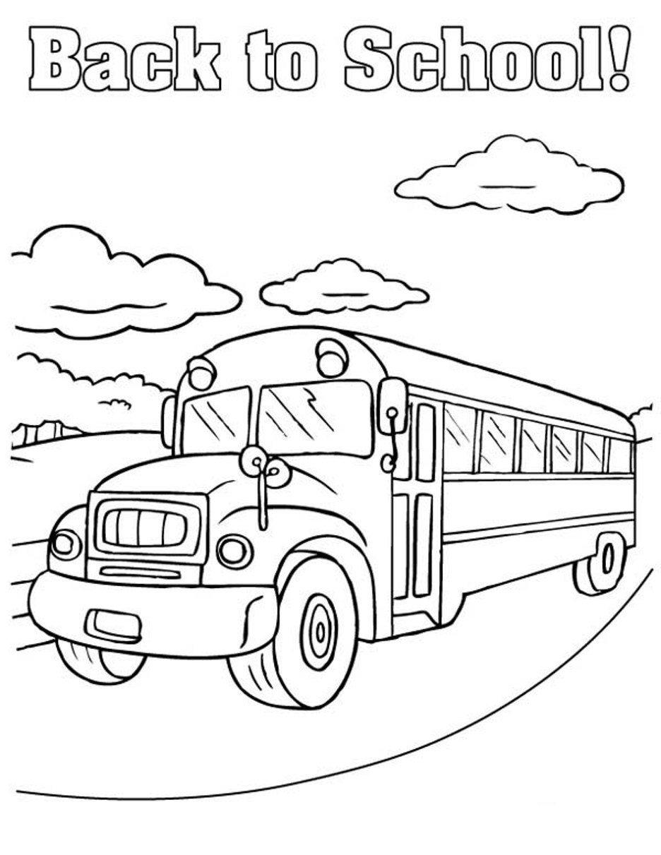 School Bus Coloring Page Back To School Bus Coloring Page Transportation Coloring Pages Of