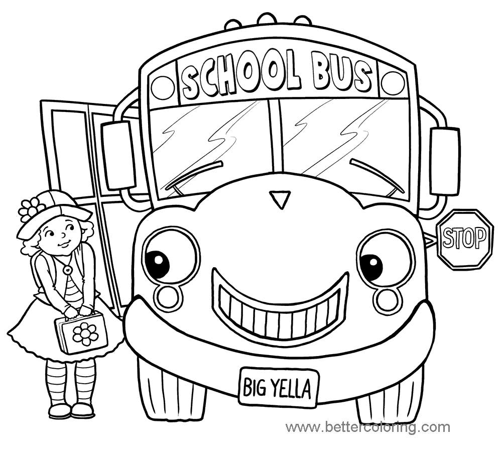 School Bus Coloring Page Printable Magic School Bus Coloring Pages For Boys 24 Free