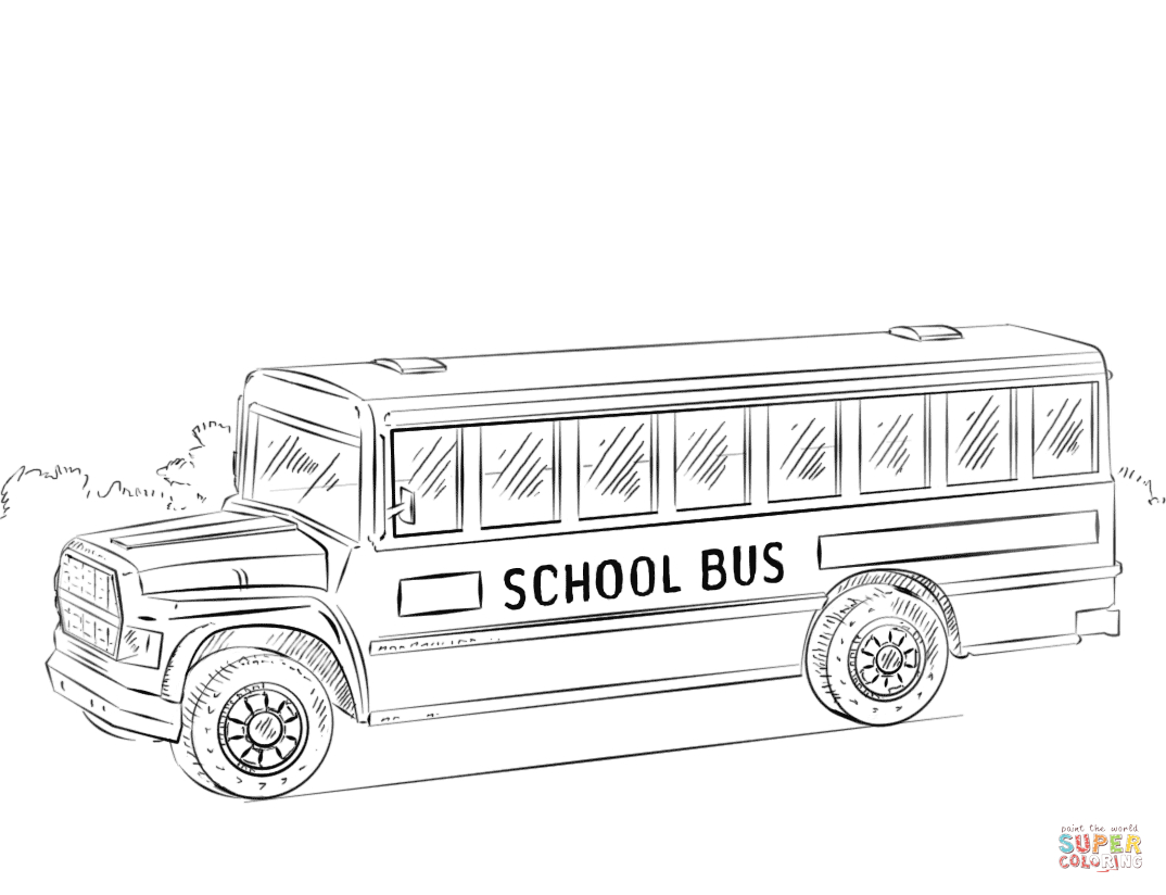 School Bus Coloring Page School Bus Coloring Pages Free Coloring Pages