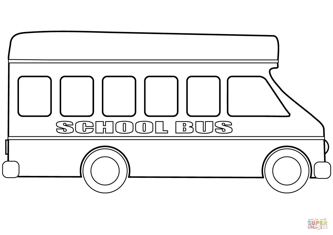 School Bus Coloring Page School Bus Coloring Sheets 2 1197