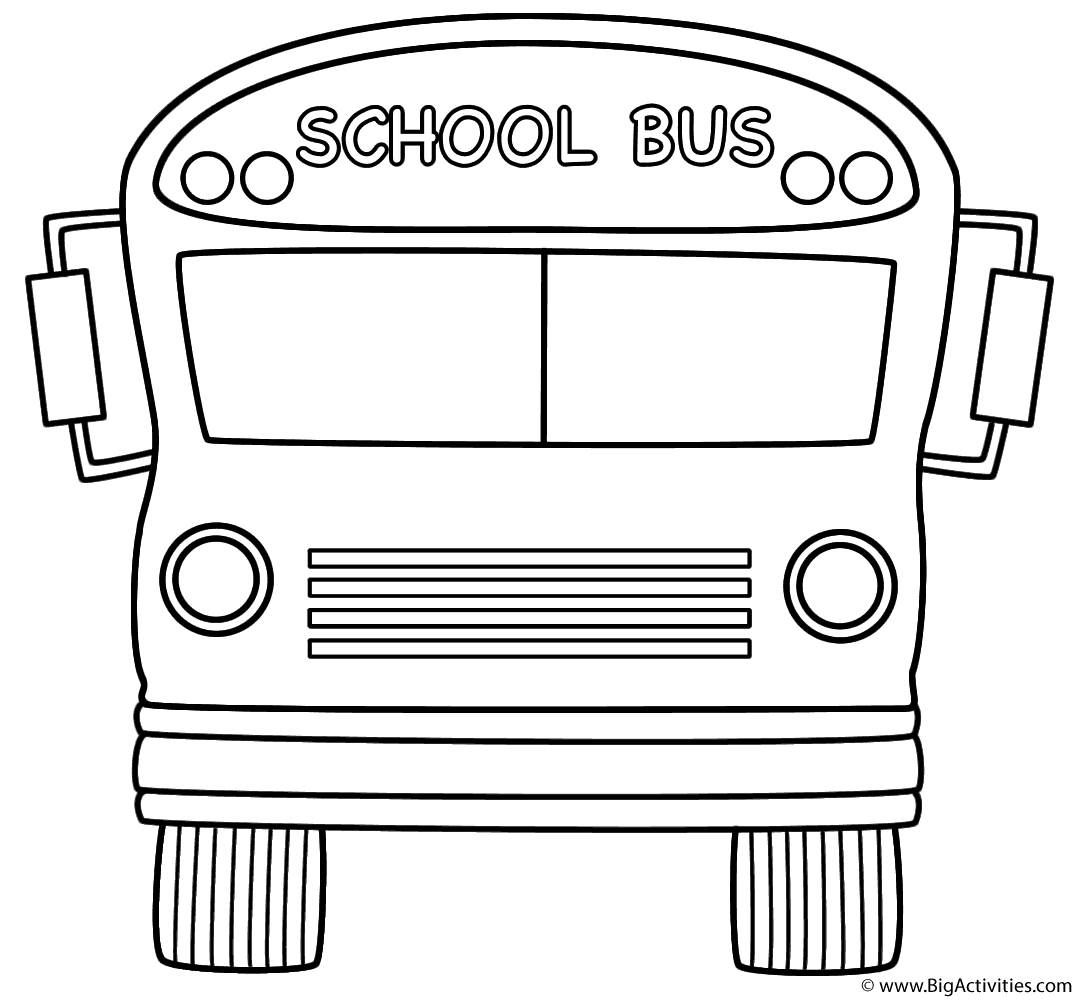 School Bus Coloring Page School Bus Front Coloring Page Transportation