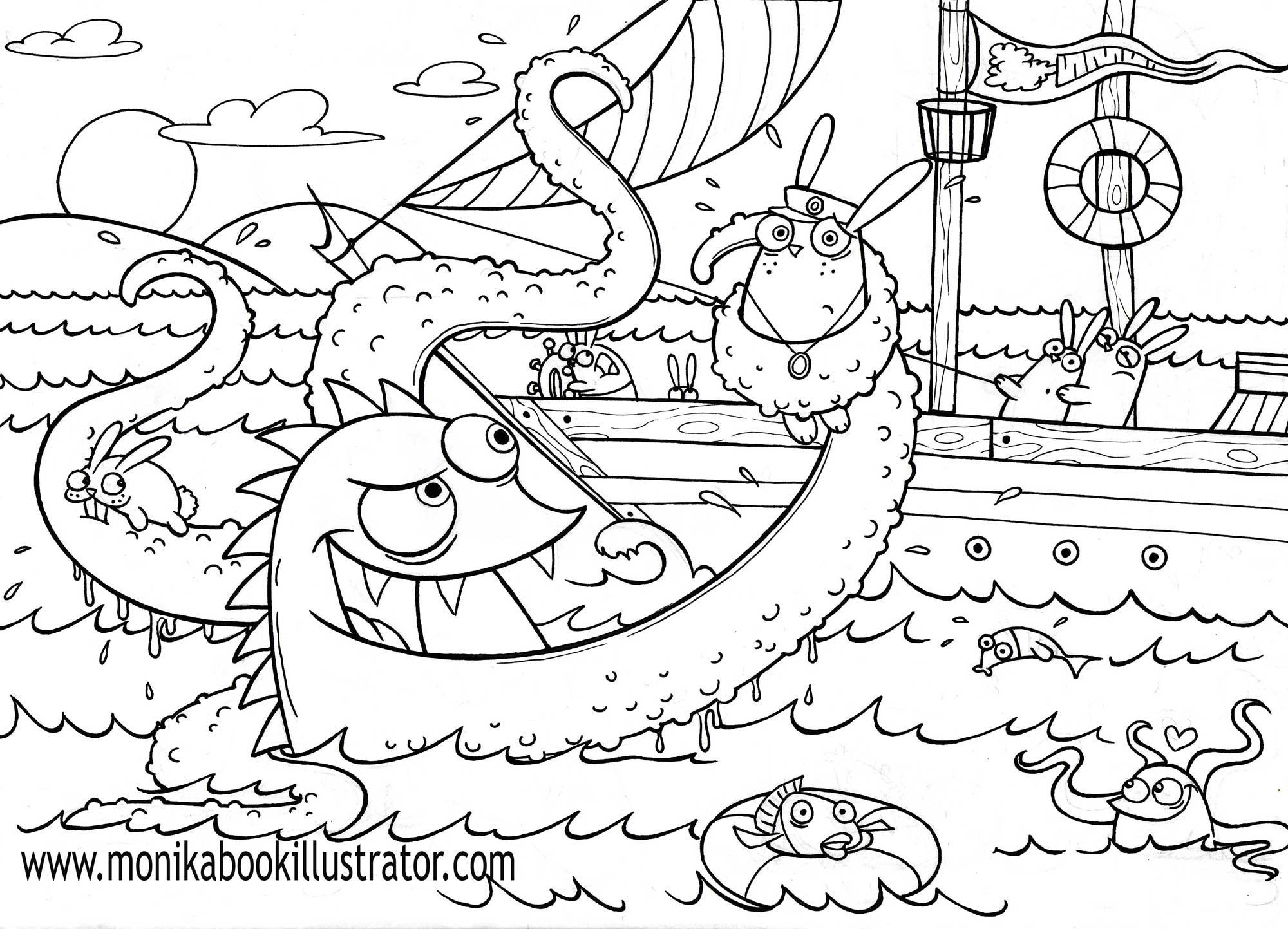 Sea Monster Coloring Pages 9 Sea Monster Coloring Pages Coloring Pages Coloringdrawingr