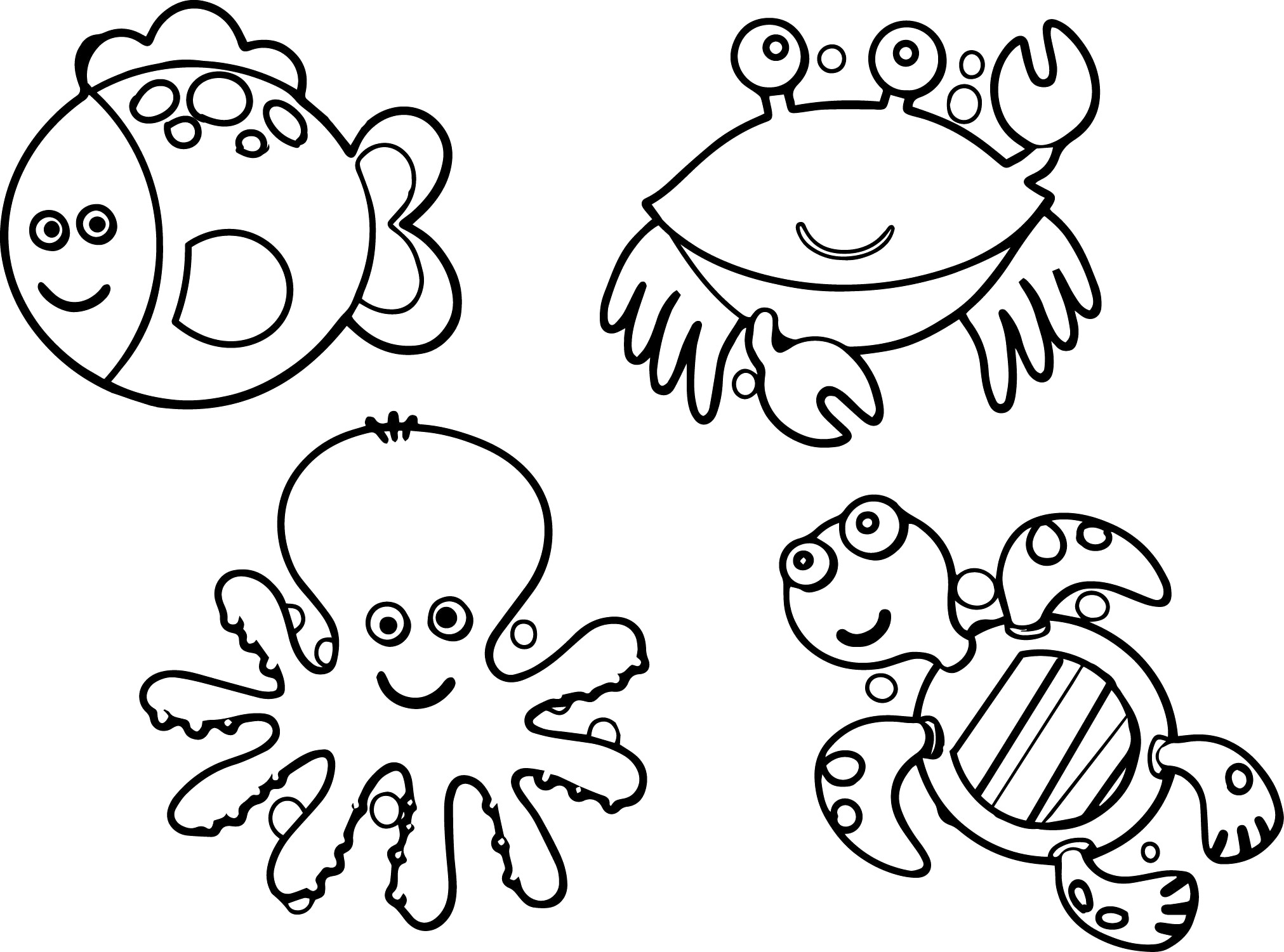Sea Monster Coloring Pages Free Printable Animal Coloring Pages Unique Ocean Animals Of Sea